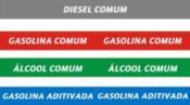 Adesivos de Identificação de Combustíveis para Bomba 5075