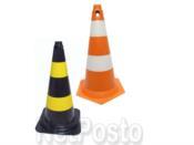 Cone de Sinalização Rigido de 50 cm