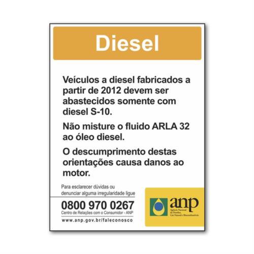 Adesivo informativo para Diesel 5281