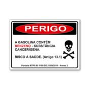 Adesivo Informativo sobre Benzeno 5282