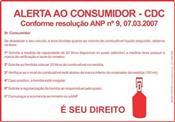 Adesivo ANP - Alerta  volume de combustível 5261