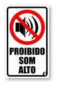 Adesivo Proibido Som Alto 5266